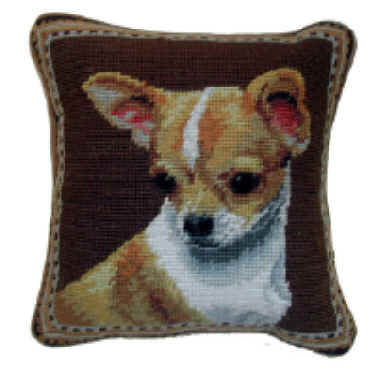 Small 10 Quot Needlepoint Chihuahua Pillows And Other Unique